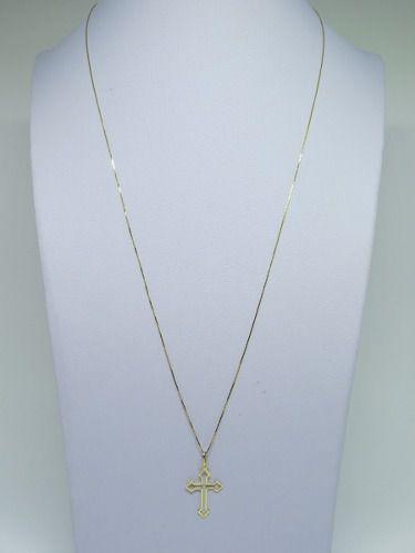 b744830f3ebf4 Corrente Veneziana Fina 60cm Crucifixo Ouro 18k 750 - DR JOIAS