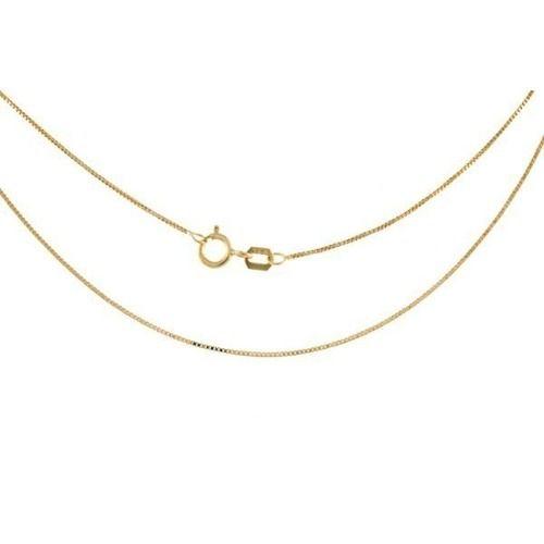 Corrente Colar Veneziana 45cm Pingente Coração Vazado Ouro 18k 750