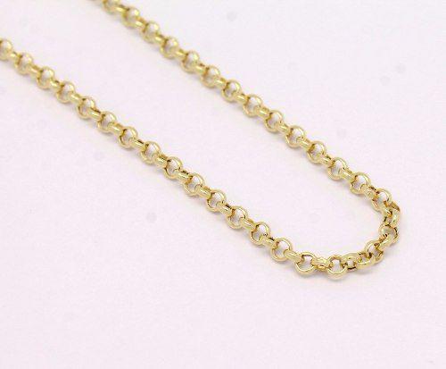 Colar Cordão Corrente 50cm Portuguesa Ouro 18k 750