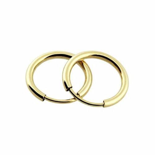 Brinco Argola 1.4cm Ouro 18k 750