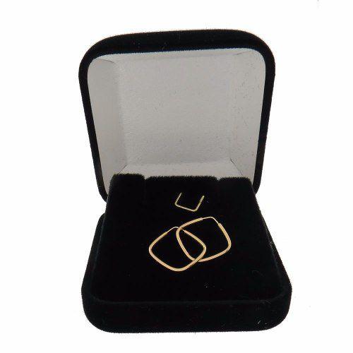 Brinco Argola Quadrado Pequeno 1.4cm em Ouro 18k 750