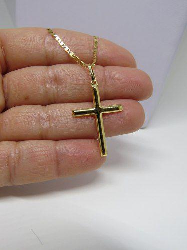 Pingente Masculino Cruz Crucifixo 2.7cm Ouro 18k 750