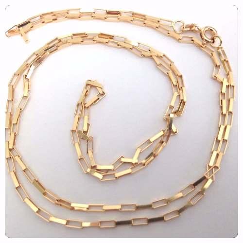 Cordão Corrente Masculino Ouro 70cm 4.8 Gr Ouro 18k 750 Cadeado