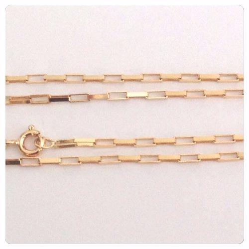Cordão Corrente Masculina Ouro 4.1 Gr 60cm Ouro 18k Maciça Cadeado