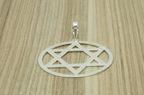 Pingente Estrela De Davi Em Prata 925
