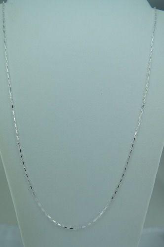 Cordão Corrente Masculina Prata Masculino Cadeado 70cm Prata 925