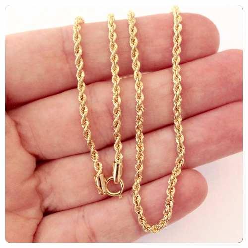 Gargantilha Cordão Baiano 40cm Ouro 18k 750