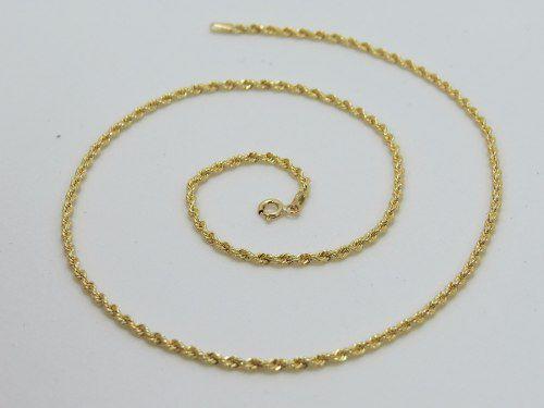 Corrente Cordão Baiano 60cm Em Ouro 18k 750