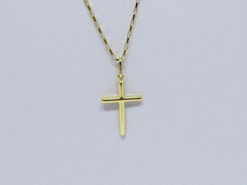 584dba33ca2 ... Cordão Corrente Masculina Ouro 80cm+ Pingente Crucifixo Ouro 18k 750  Cadeado ...