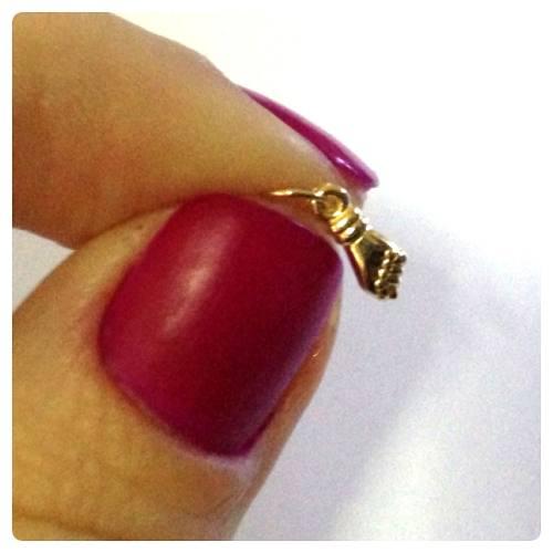 Pingente Figa Pequena Ouro 18k 750
