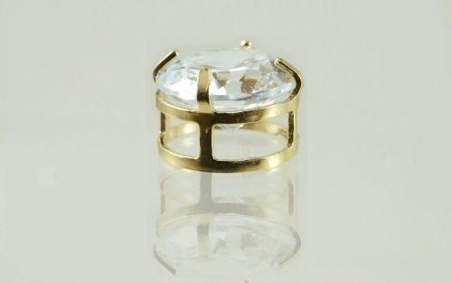 Pingente Ponto De Luz Zircônia Galeria 6mm Ouro Joia 18k 750