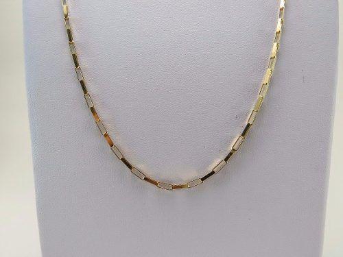Corrente Cordão Masculino Ouro 18k 750 60cm Fígaro Cadeado