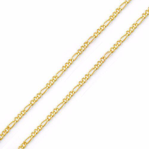 ab8a721b1ed Corrente Cordão Elos Grumet 3 X 1 60cm Em Ouro 18k 750 - DR JOIAS