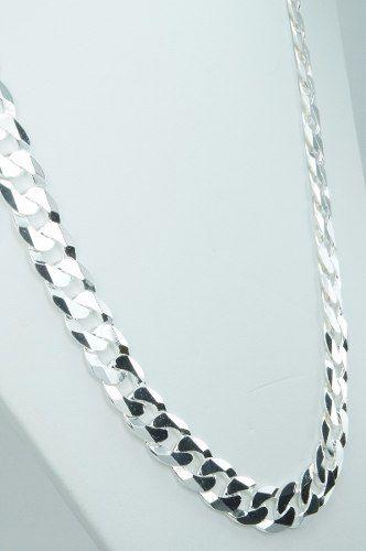 Corrente Cordão Grumet 10mm 60cm Em Prata 925