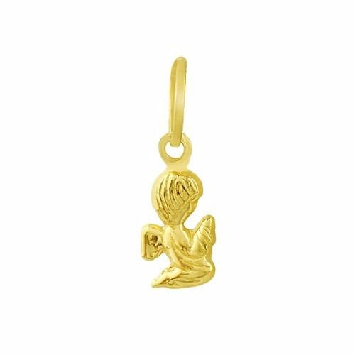 Pingente Mini Anjo Da Guarda De Ouro 18k 750