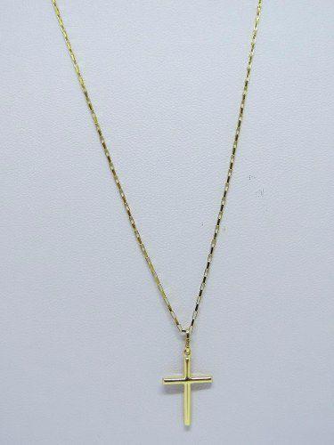 476570a552a Cordão Corrente 80cm E Pingente Crucifixo Ouro 18k 750