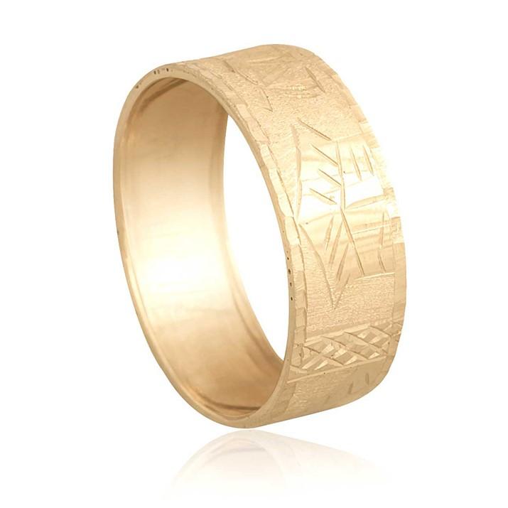 Anel Aliança Escrava Egípcio Ouro 18k