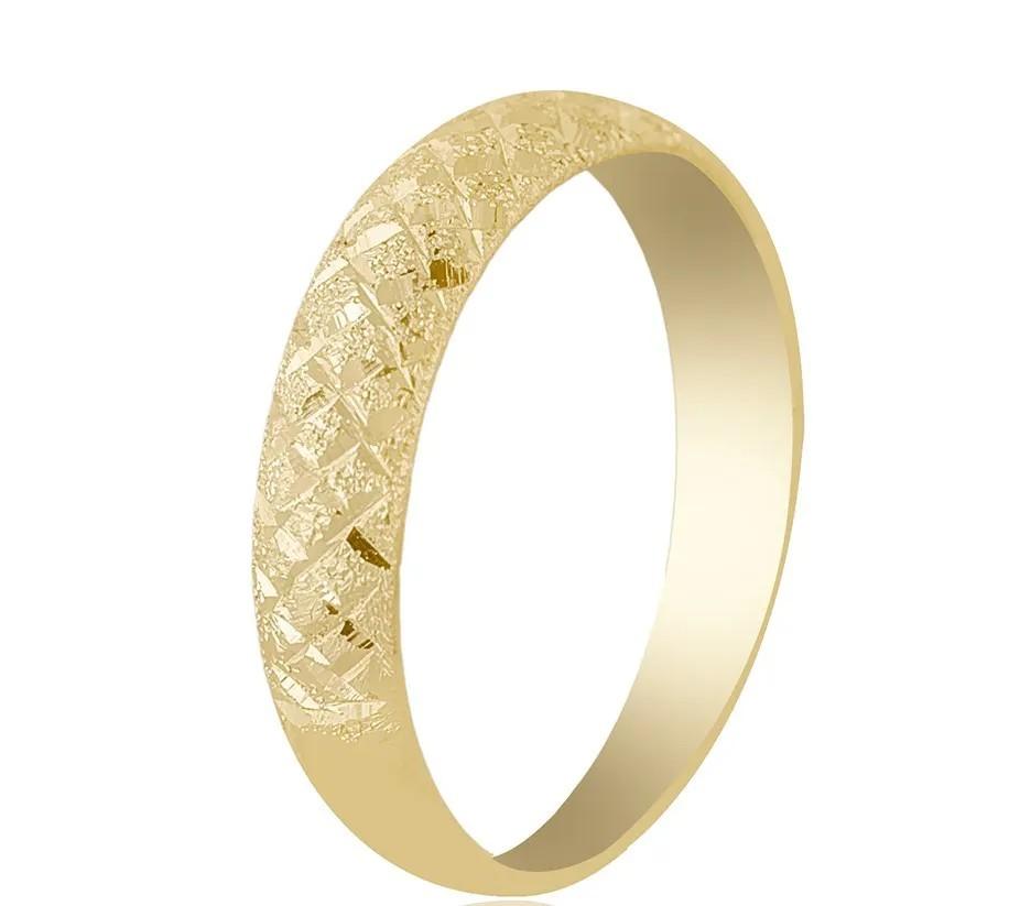 Anel Aparador Trabalhado Diamantado Ouro 18k 750
