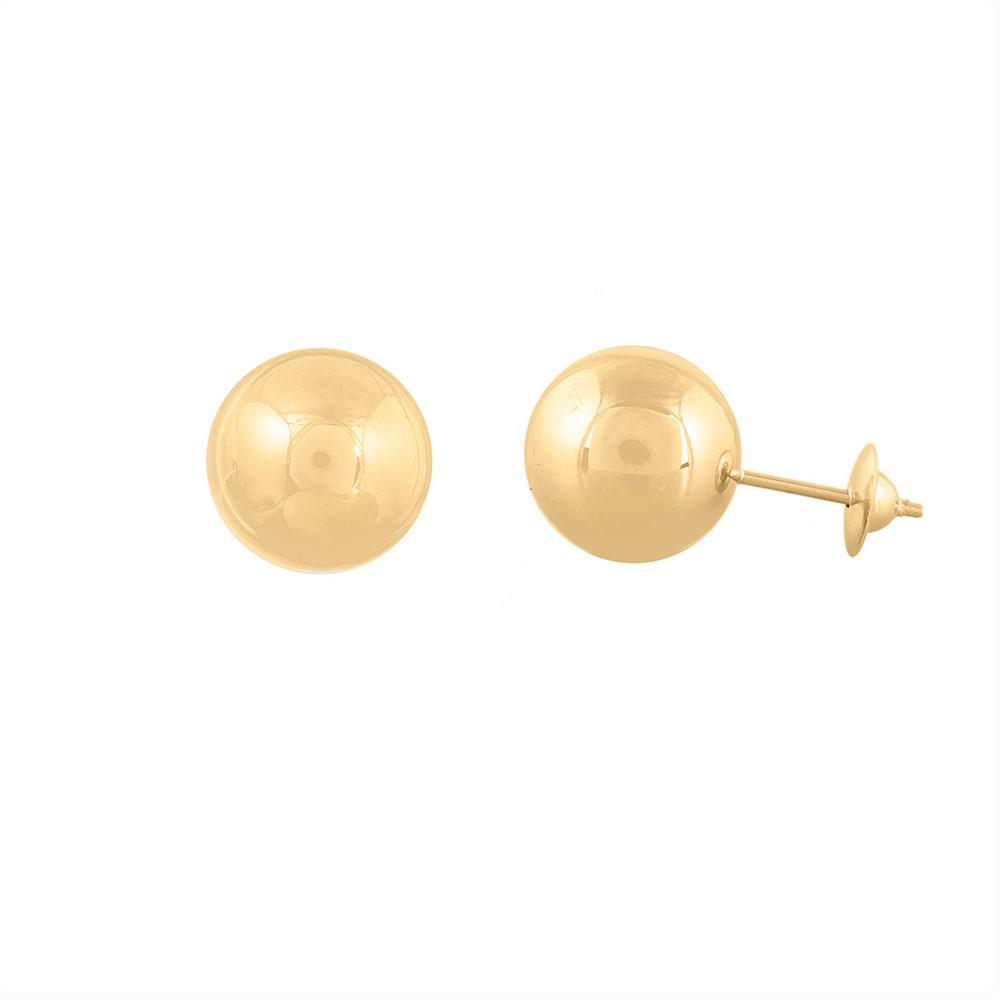 Brinco Ouro 18k 750 Bola 10mm