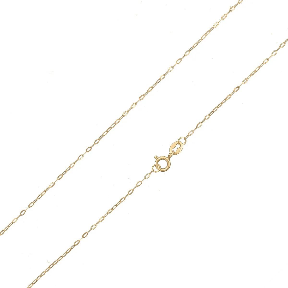 Colar Cordão Corrente Americana 45cm Com Pingente Coração De Ouro 18k