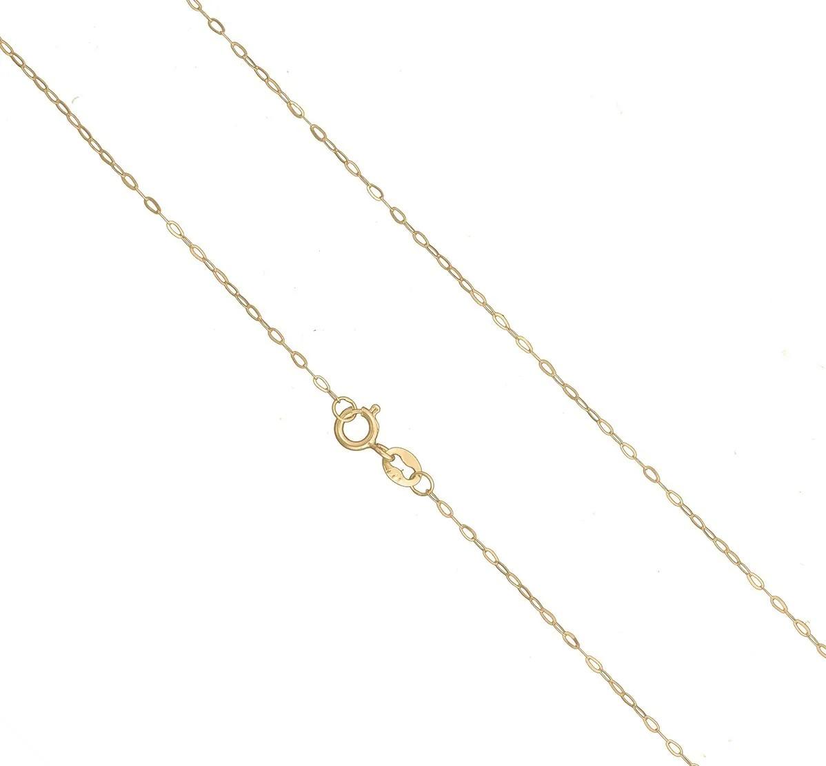 Colar Corrente Veneziana Americana 50cm Pingente Coração De Ouro 18k