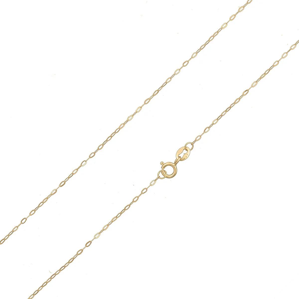Cordão Colar Corrente 45cm Feminina Americana De Ouro 18k