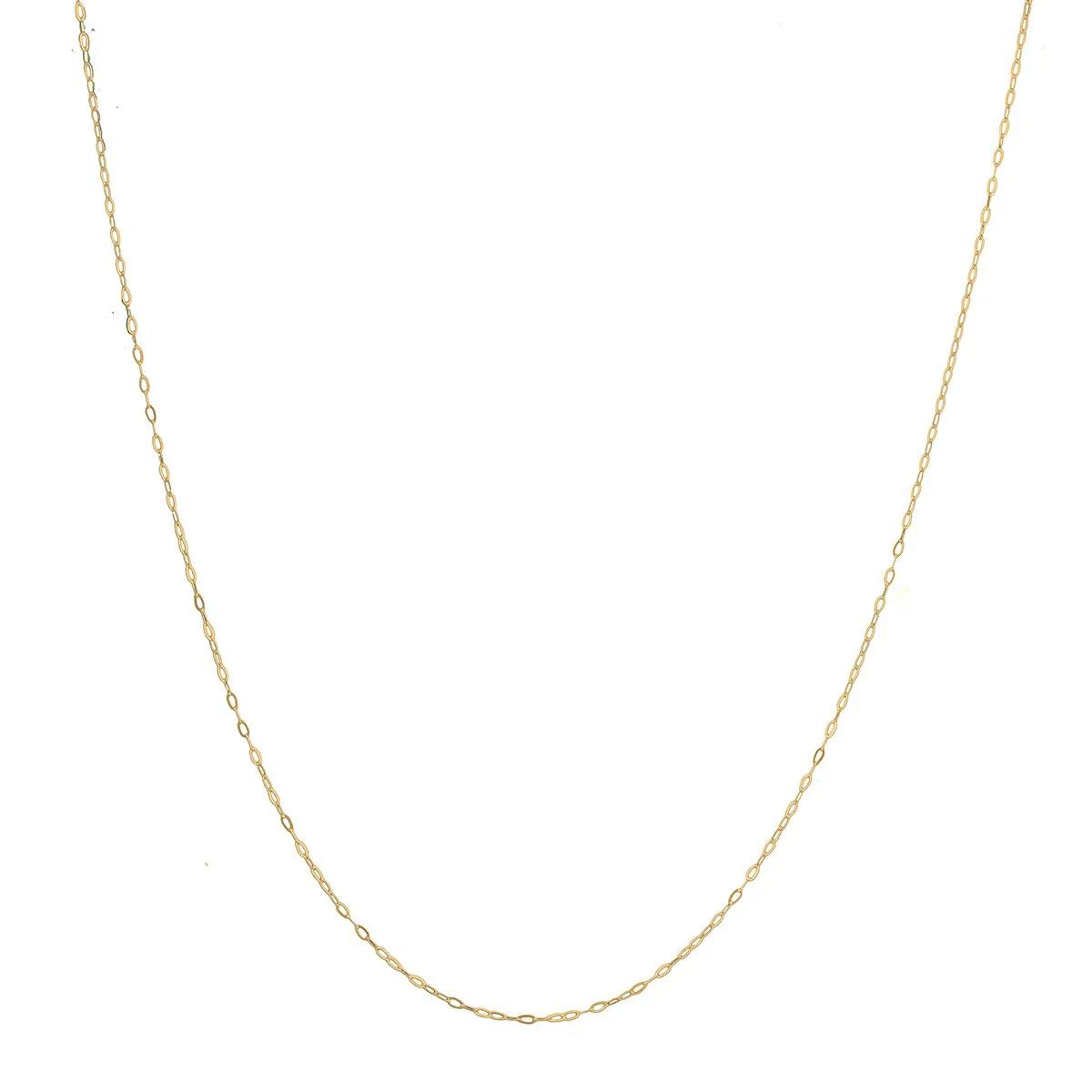Cordão Colar Corrente 50cm Feminina Americana De Ouro 18k