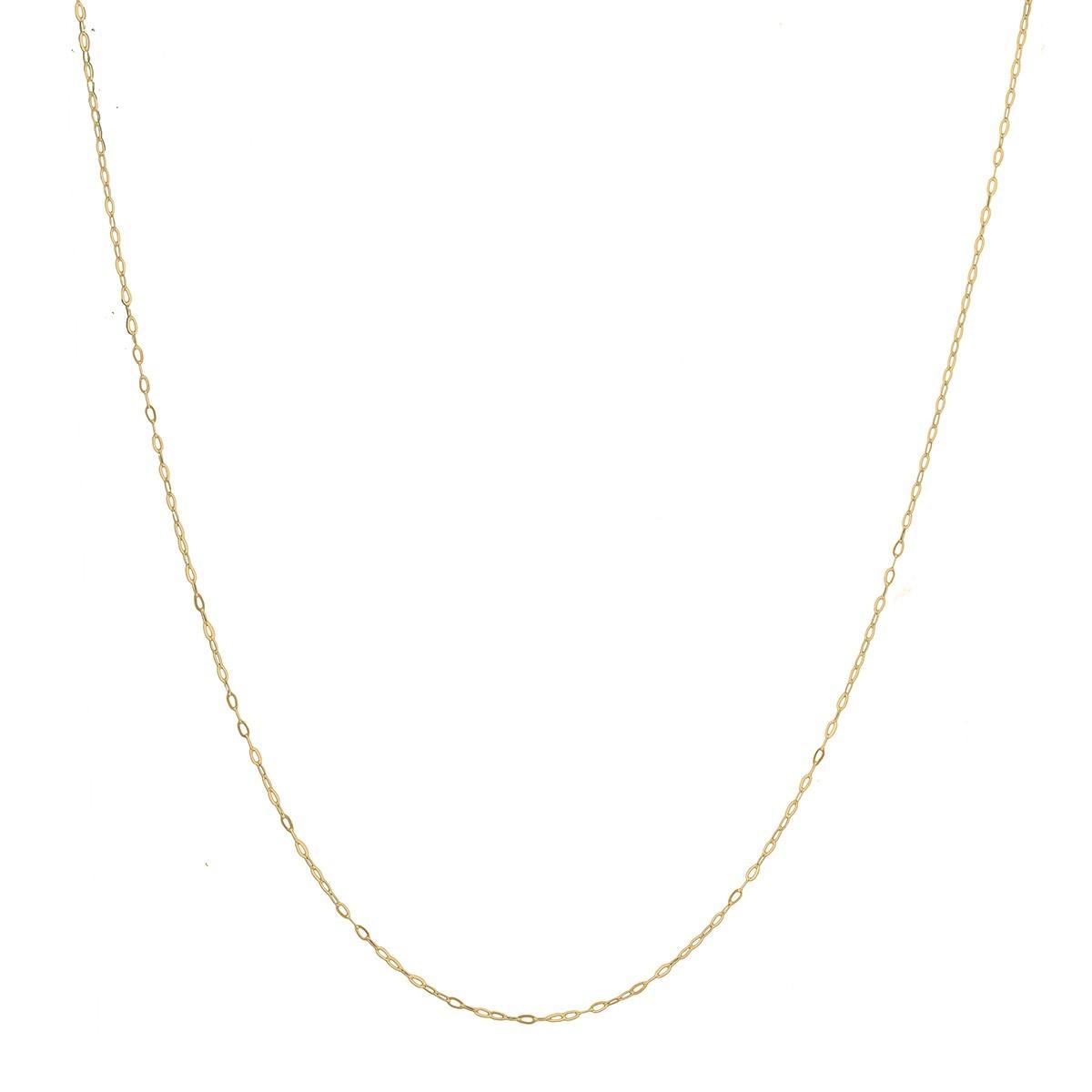 Cordão Corrente Colar 40cm Feminino Americana De Ouro 18k