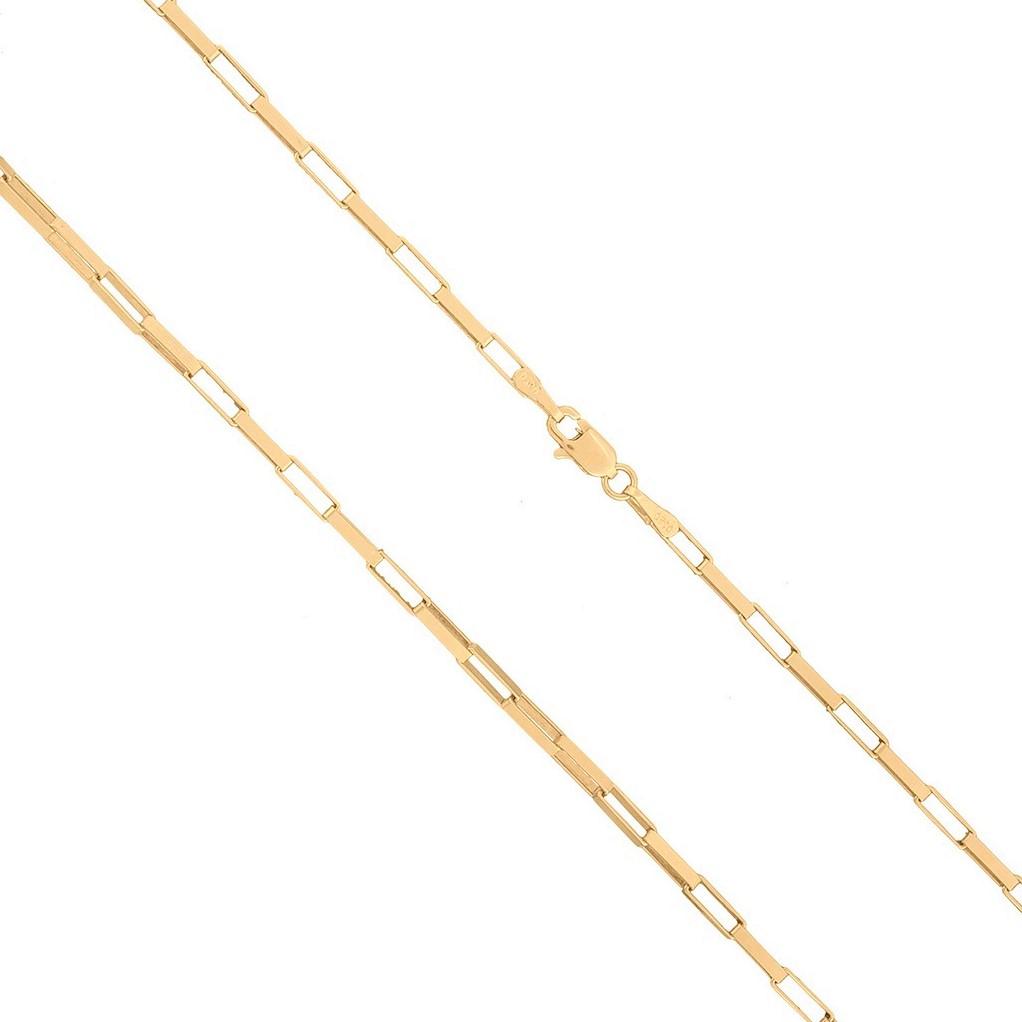 Cordão Corrente De Ouro 18k 750 Maciço Cadeado De 70cm 7g