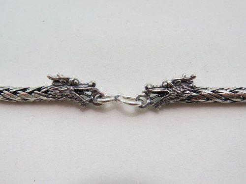 Cordão Corrente Masculina Bali Palmera 4mm 70cm De Prata 925