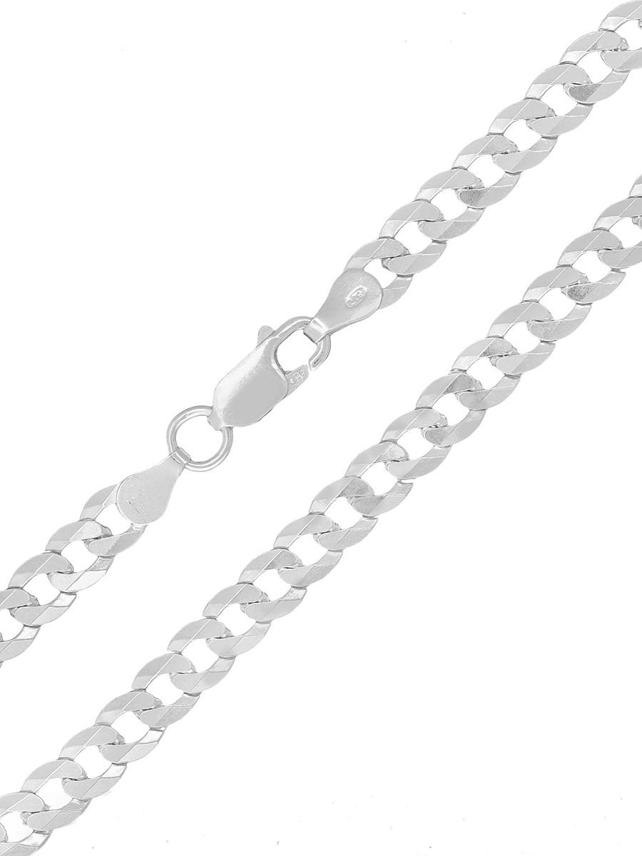 Cordão Corrente Masculina Grumet 5mm 60cm De Prata 925