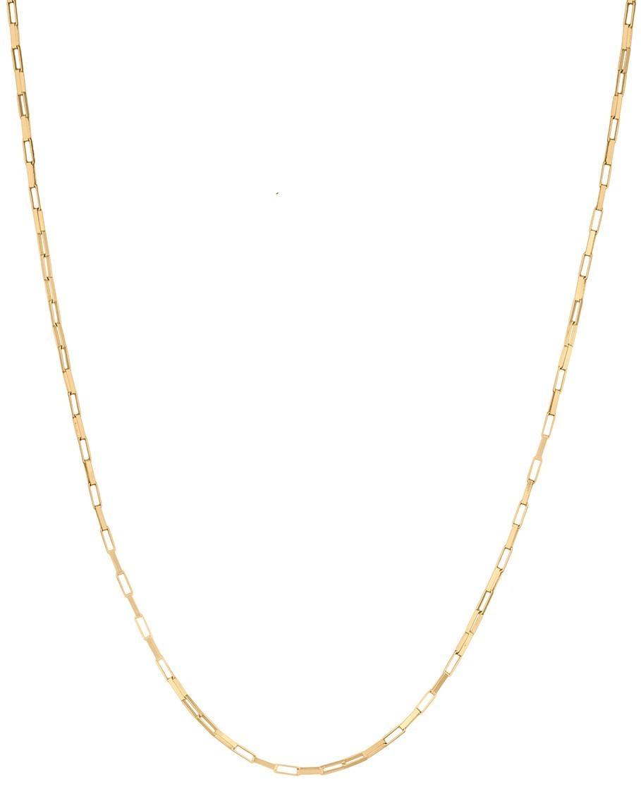 Cordão Corrente Masculina Ouro 60cm 2.7g Ouro 18k 750 Cadeado