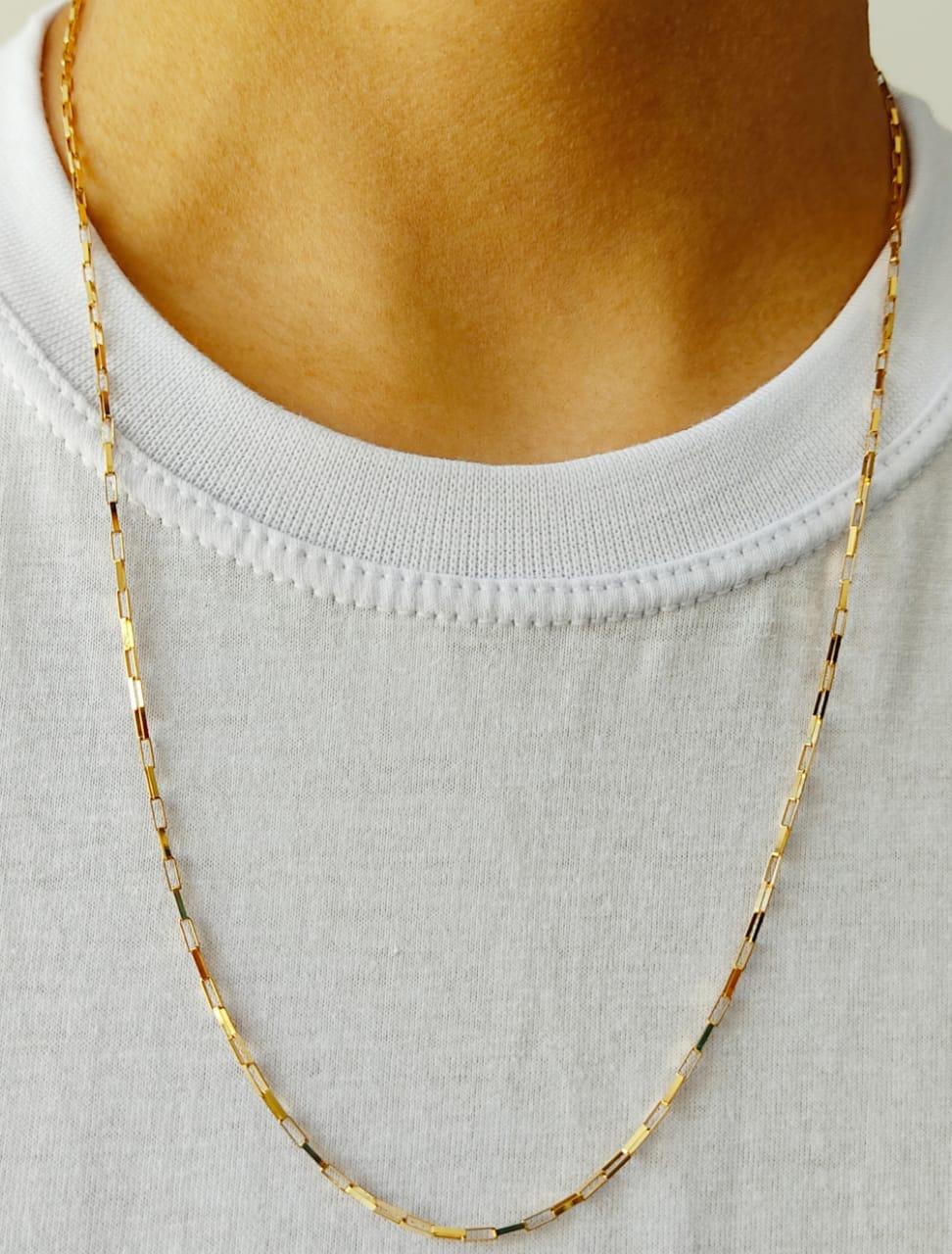 Cordão Corrente Masculina Ouro 70cm 3 Gramas Ouro 18k 750