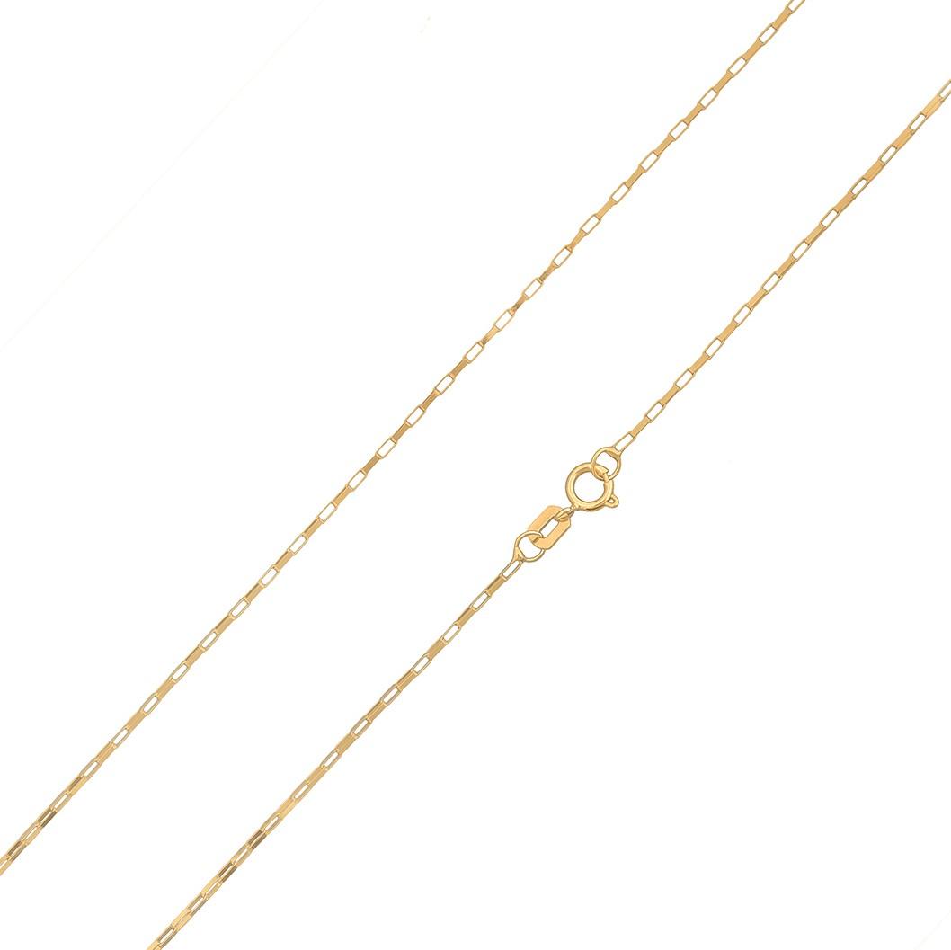 Cordão Corrente Masculino Ouro 1.4g 60cm Ouro 18k 750 Maciça Cadeado