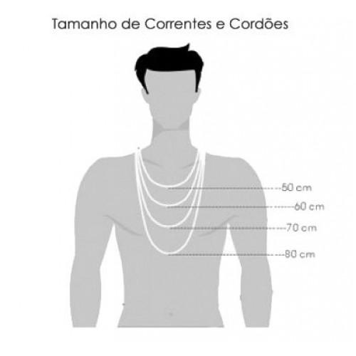 Cordão Corrente Veneziana 70cm 2mm De Prata 925