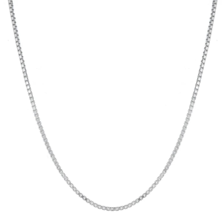 Cordão Corrente Veneziana 70cm Prata 925 Maciça