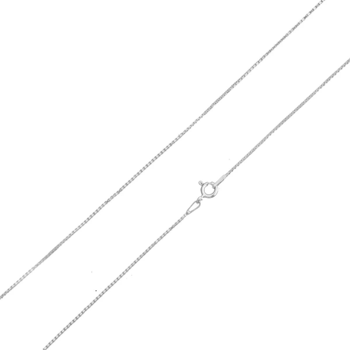 Cordão Corrente Veneziana Fina 70cm Prata 925