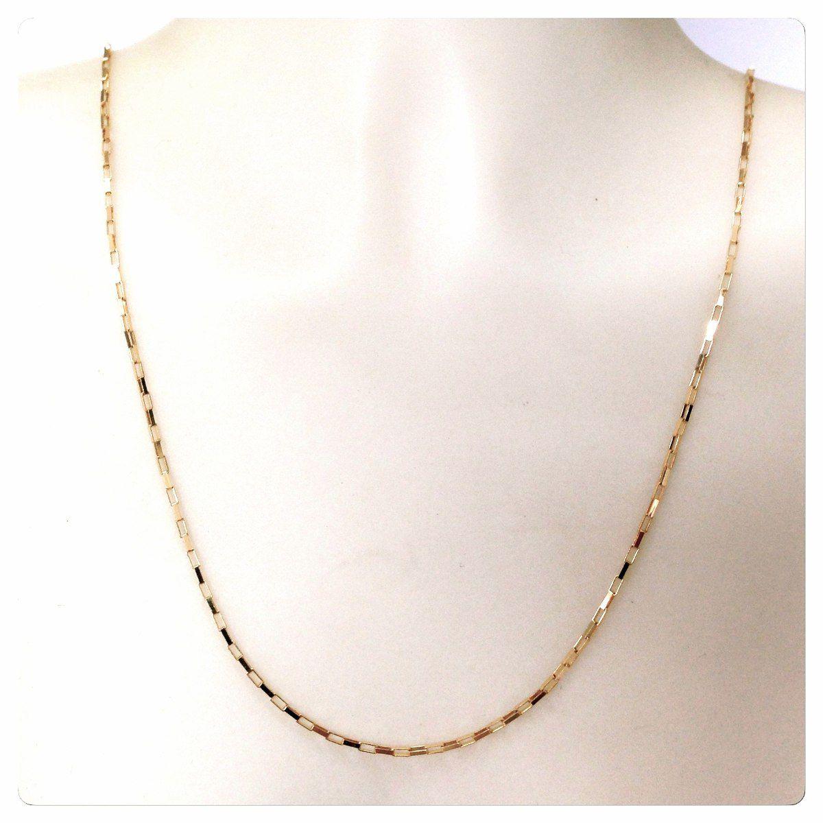 2d96733c8f9 Cordão de Ouro 18k Maciço Cadeado De 70cm 7g - DR JOIAS