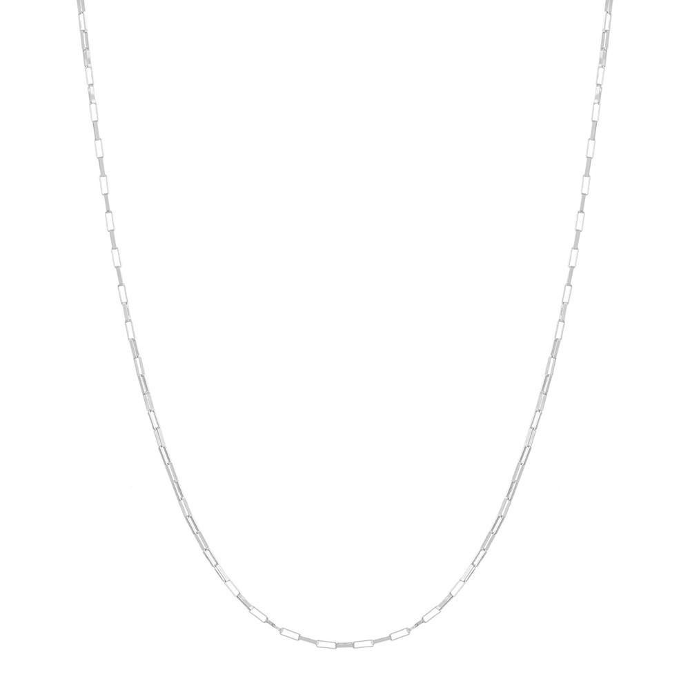Corrente Colar Cordão Cadeado Em Prata 925