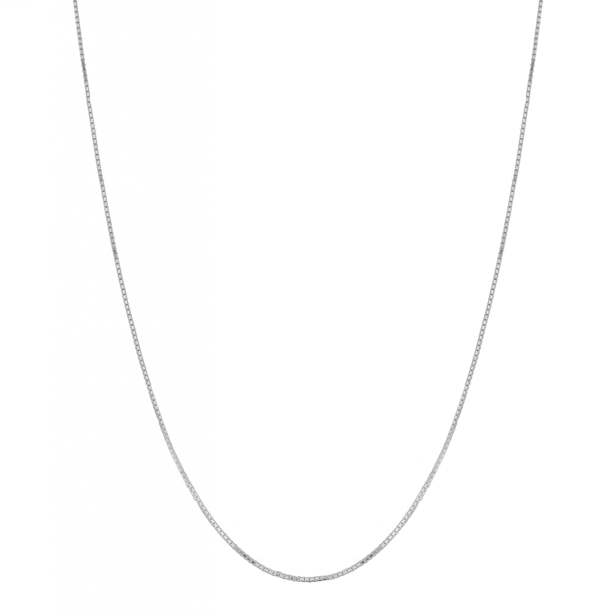Corrente Colar Veneziana 40cm Prata 925