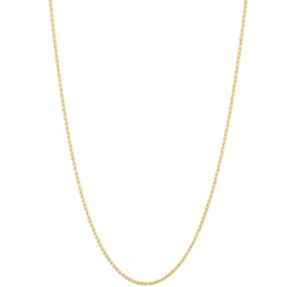 Corrente Cordão Baiano 70cm Em Ouro 18k 750