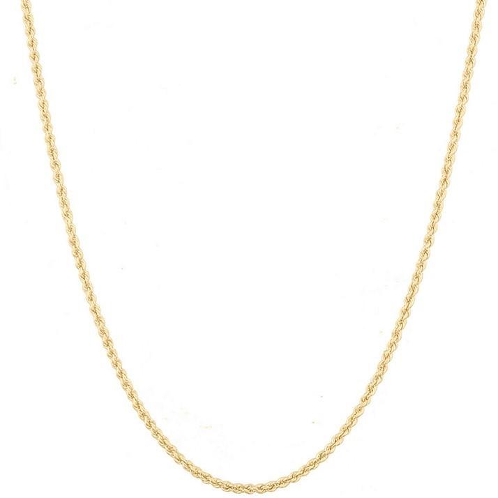 Corrente Cordão Baiano Masculino 80cm Em Ouro 18k
