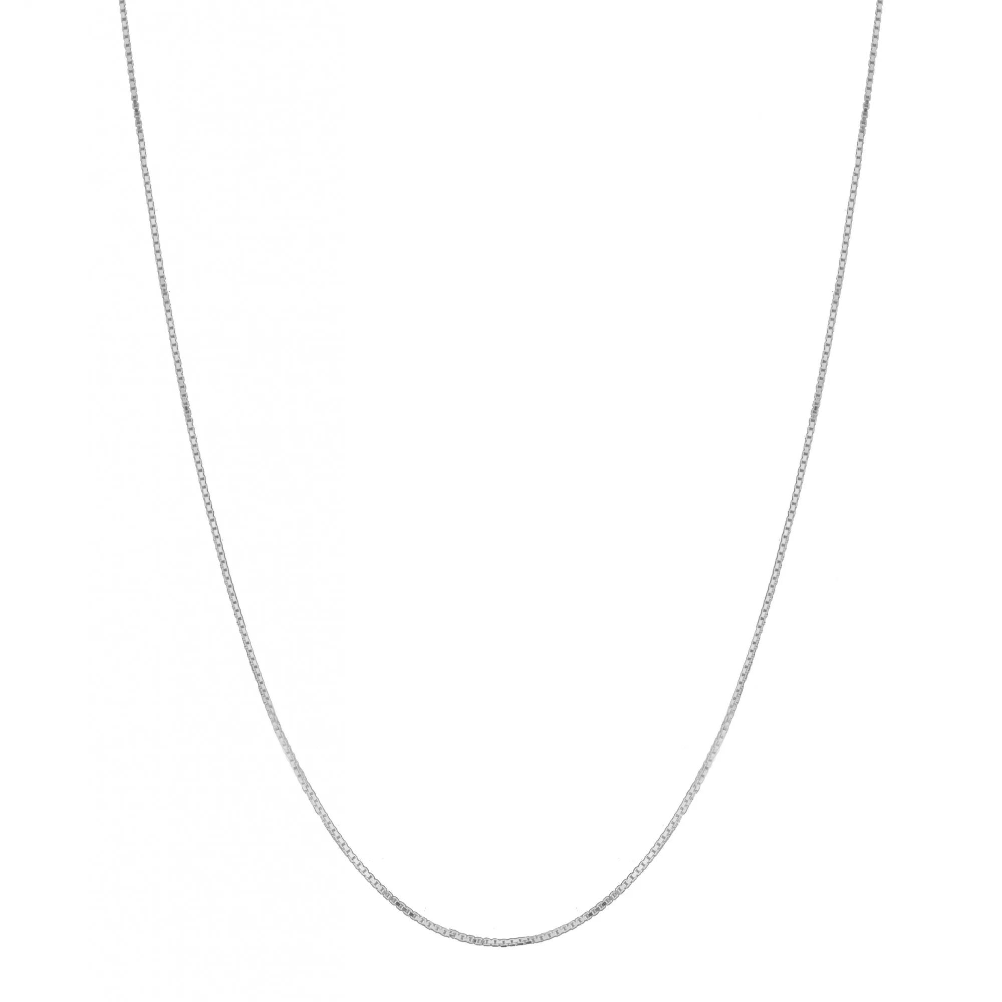 Corrente Cordão Colar Veneziana 50cm Prata 925