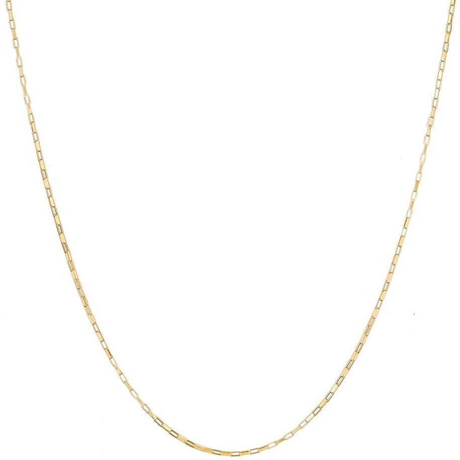 Corrente Cordão Feminino 45cm Ouro 18k 750 Cadeado