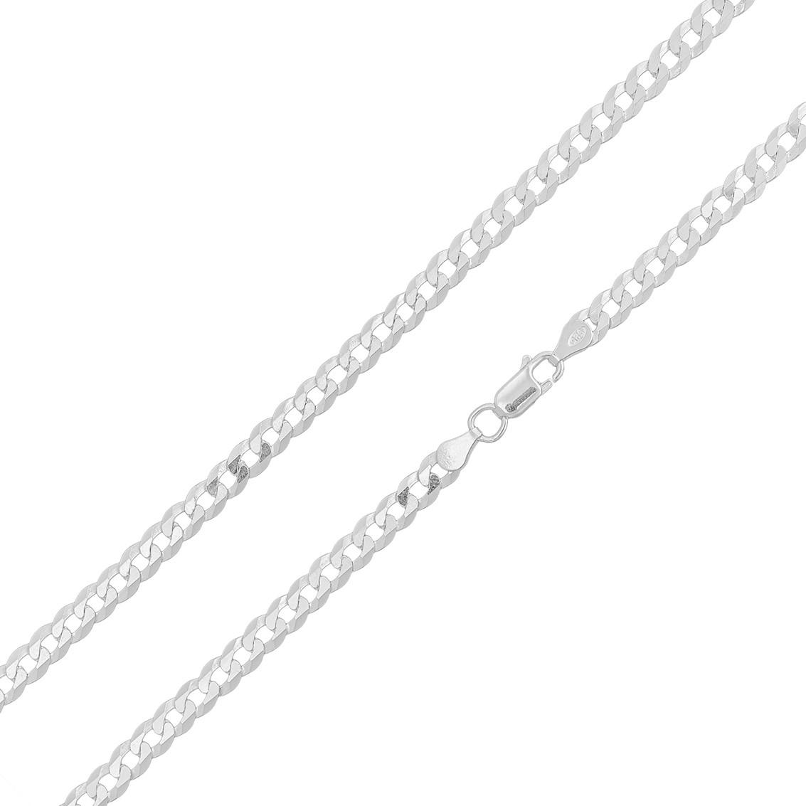 Corrente Cordão Italiano Grumet 4.5mm 60cm Em Prata 925