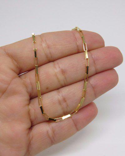 Corrente Cordão Masculina Cadeado 10 gramas 60cm Ouro 18k Maciça