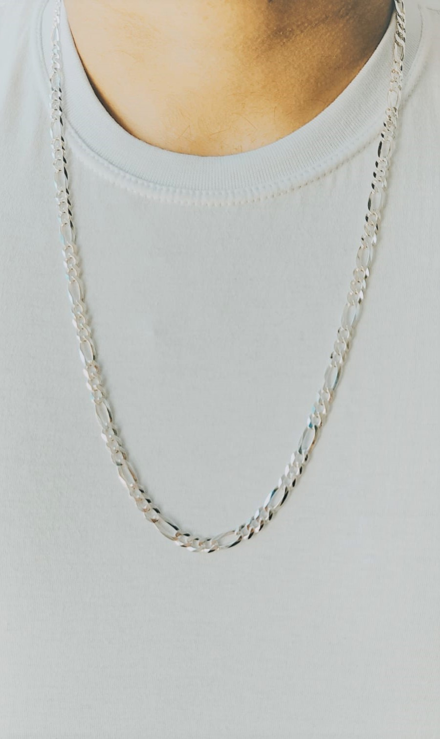 Corrente Cordão Masculino 3 Em 1 3mm X 70cm Em Prata 925