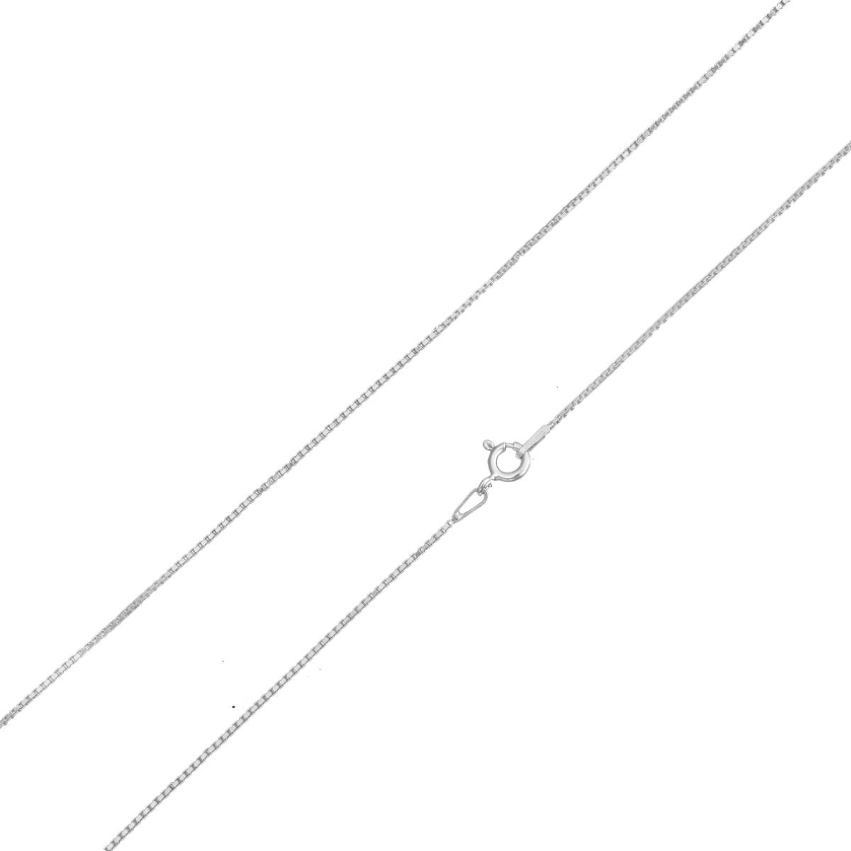Corrente Cordão Masculino 80cm Veneziana De Prata 925