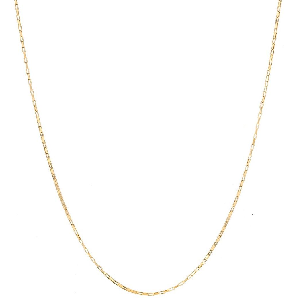 Corrente Cordão Masculino Ouro 1.55g 70cm Ouro 18k 750