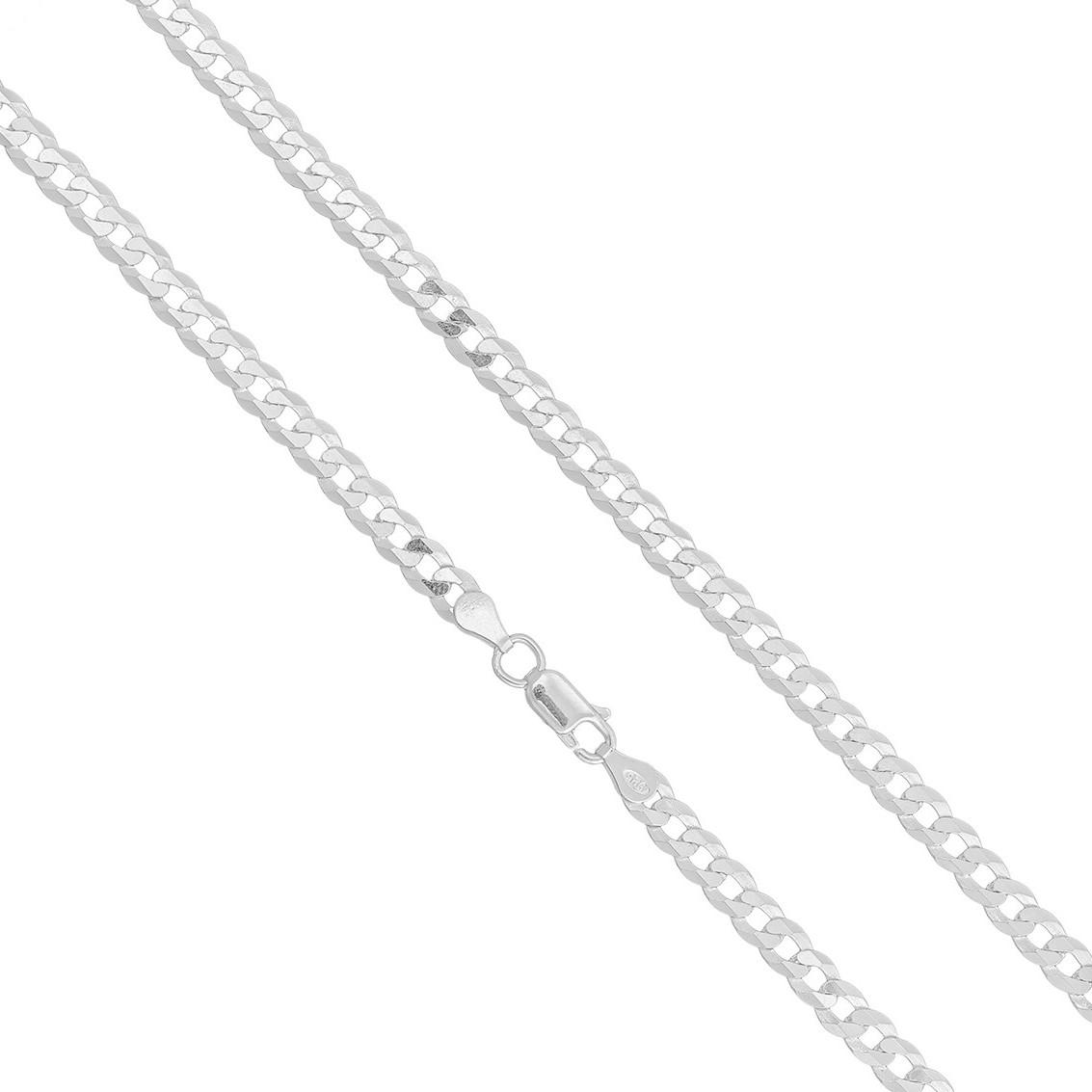 Corrente Prata 925 Grumet Maciça 4.5mm X 70cm